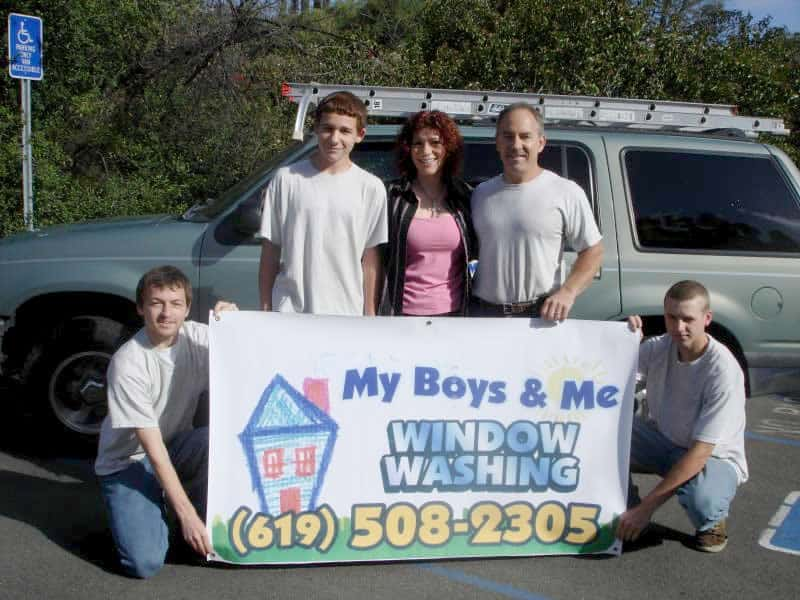 My Boys and Me Window Washing Family
